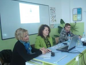 Директорът на ТСБ - Ямбол г-жа Калина Казанджиева с гостите