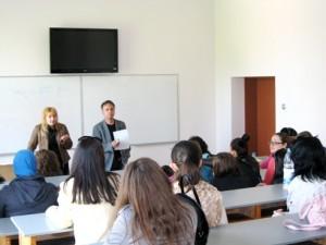 Организаторите на семинара,доц. Проданов и г-жа Настева