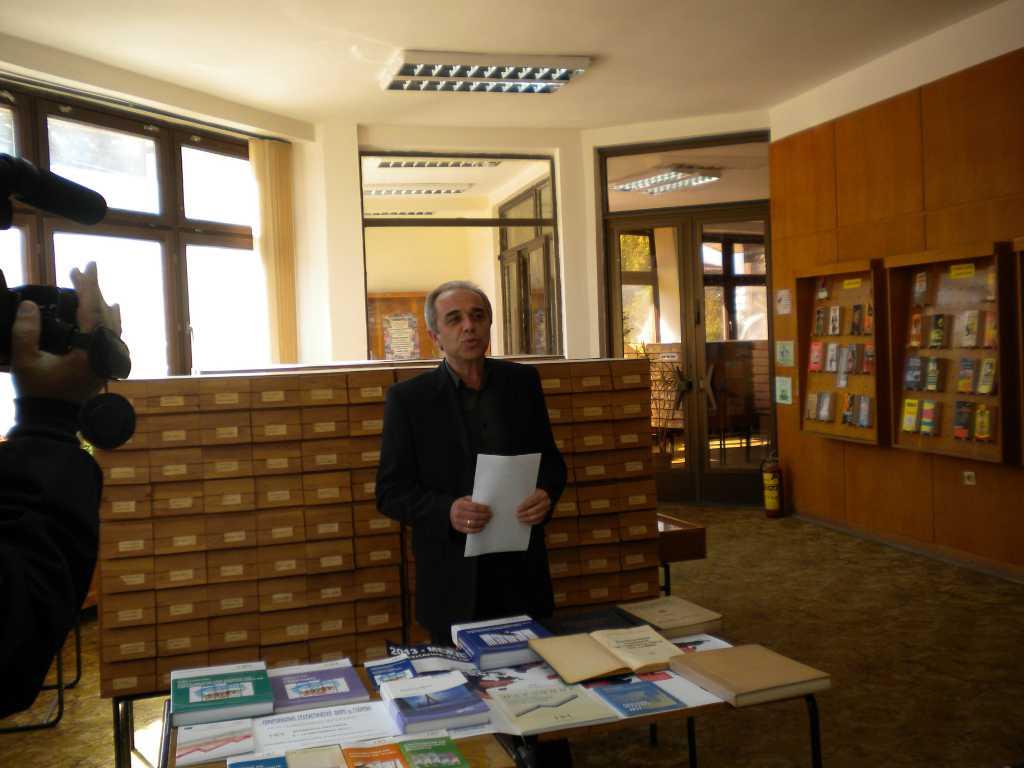 Откриване на изложбата в Градската библиотека