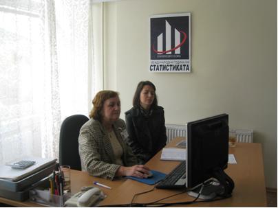 Г-жа Вера Жечева представя дигиталната библиотека на НСИ