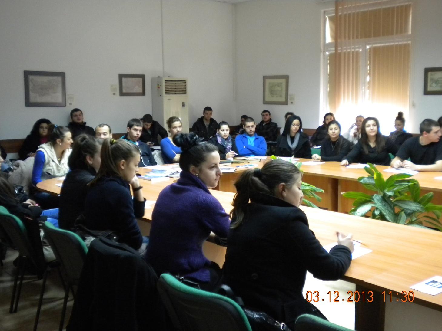 Участвалите в срещата студенти от Стопанския факултет на Техническия университет - Габрово