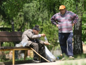 Atanas Prodanov - Nearly half of Bulgaria's people live under threat of poverty and social exclusion. It makes me very sad to see them like this. Why must there be so much grief around the world?