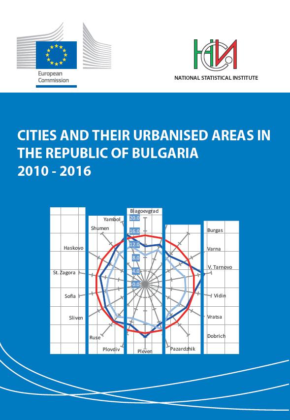 Градове и техните функционални урбанизирани ареали в Република България 2010 - 2016